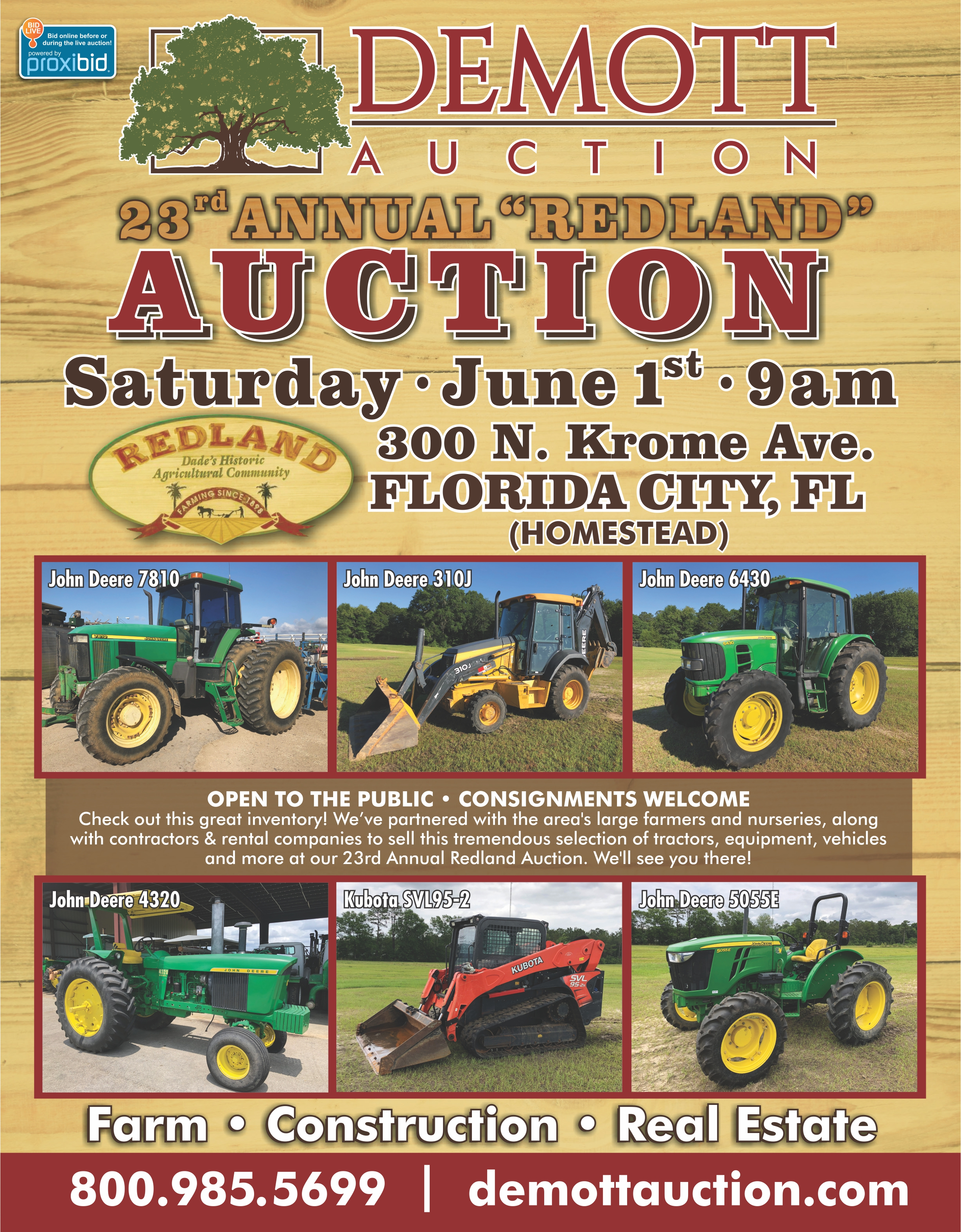23rd Annual Redland Auction